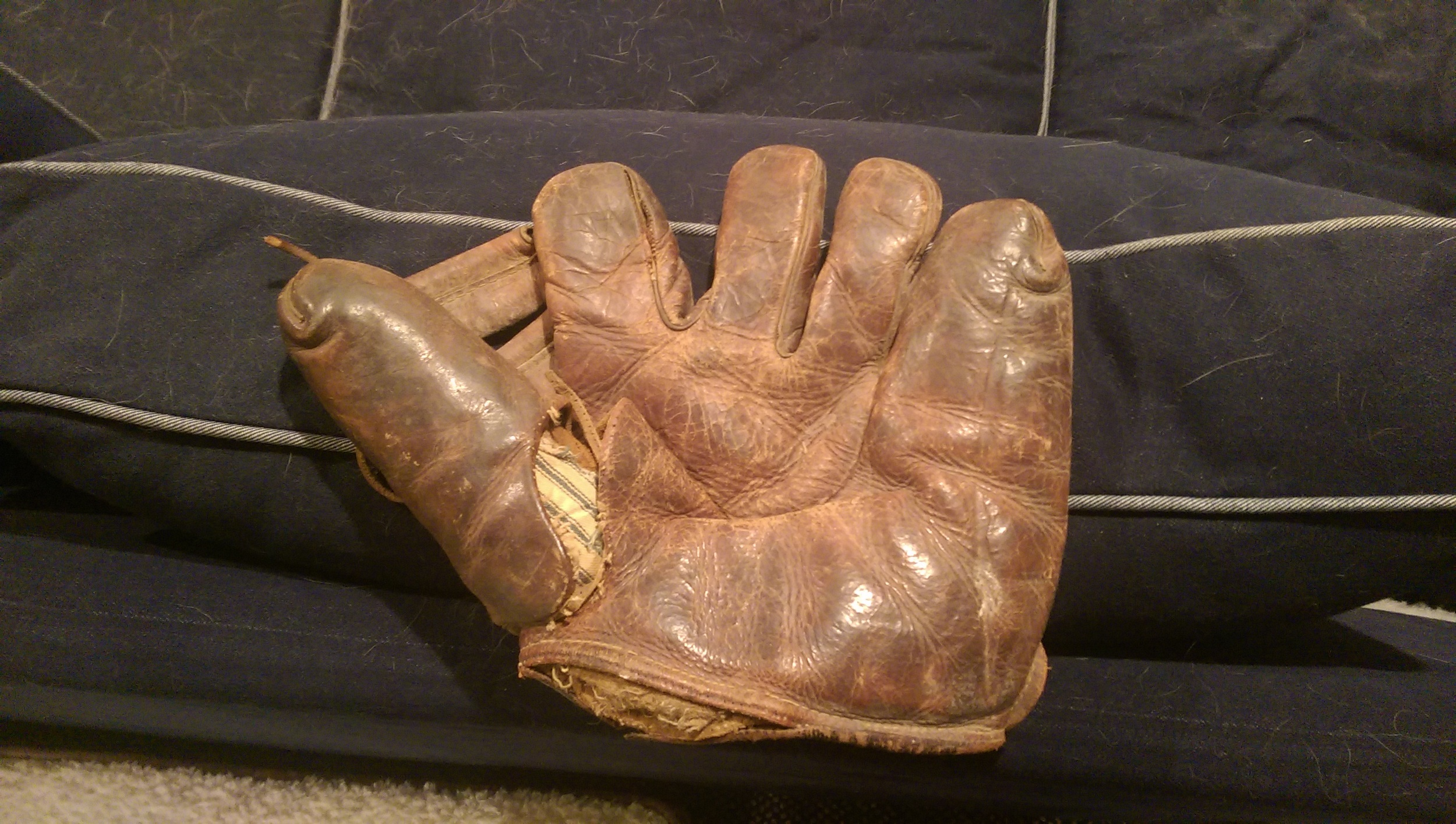 Pop's (my grandfather) baseball glove. One of my prized possessions.