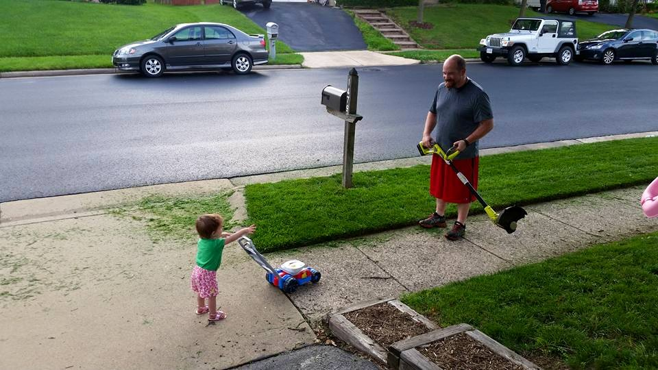 It doesn't hurt to enlist some help with your yard work. Isn't this why we have kids?