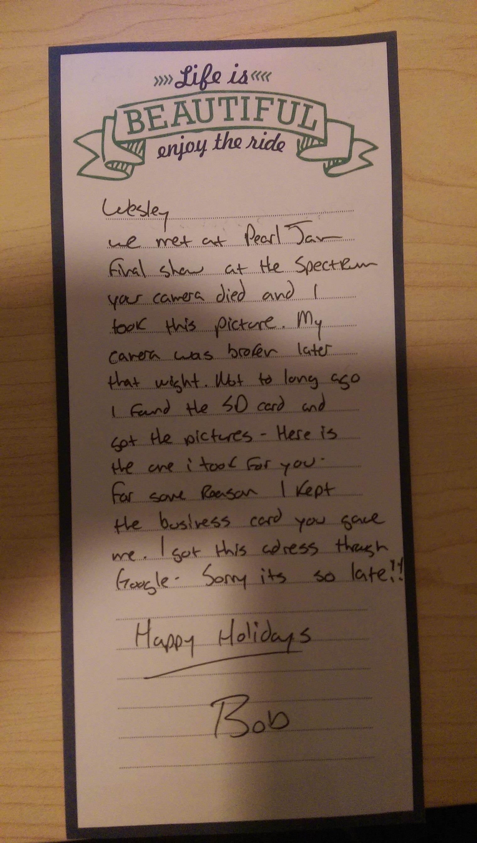 Short note from a fellow fan