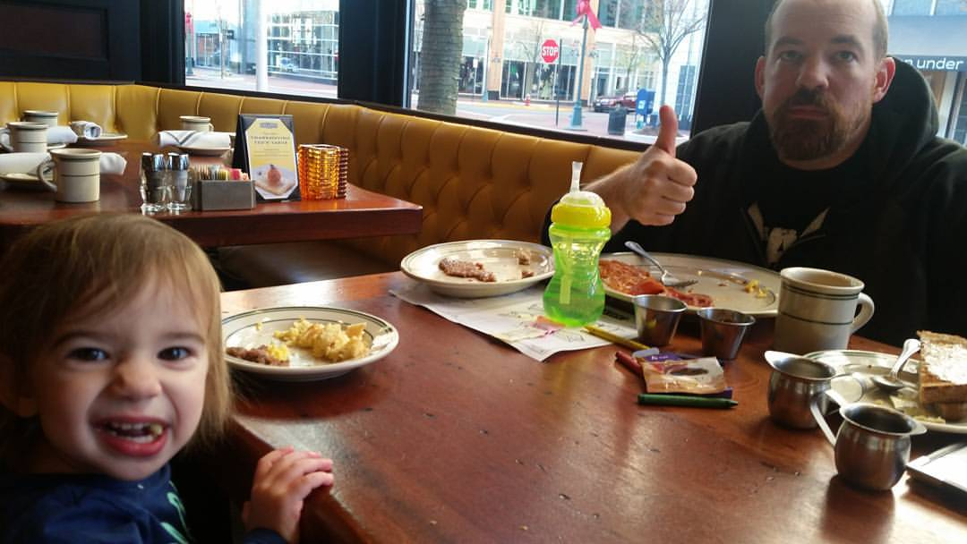 The family out for breakfast (Rizzo not pictured)