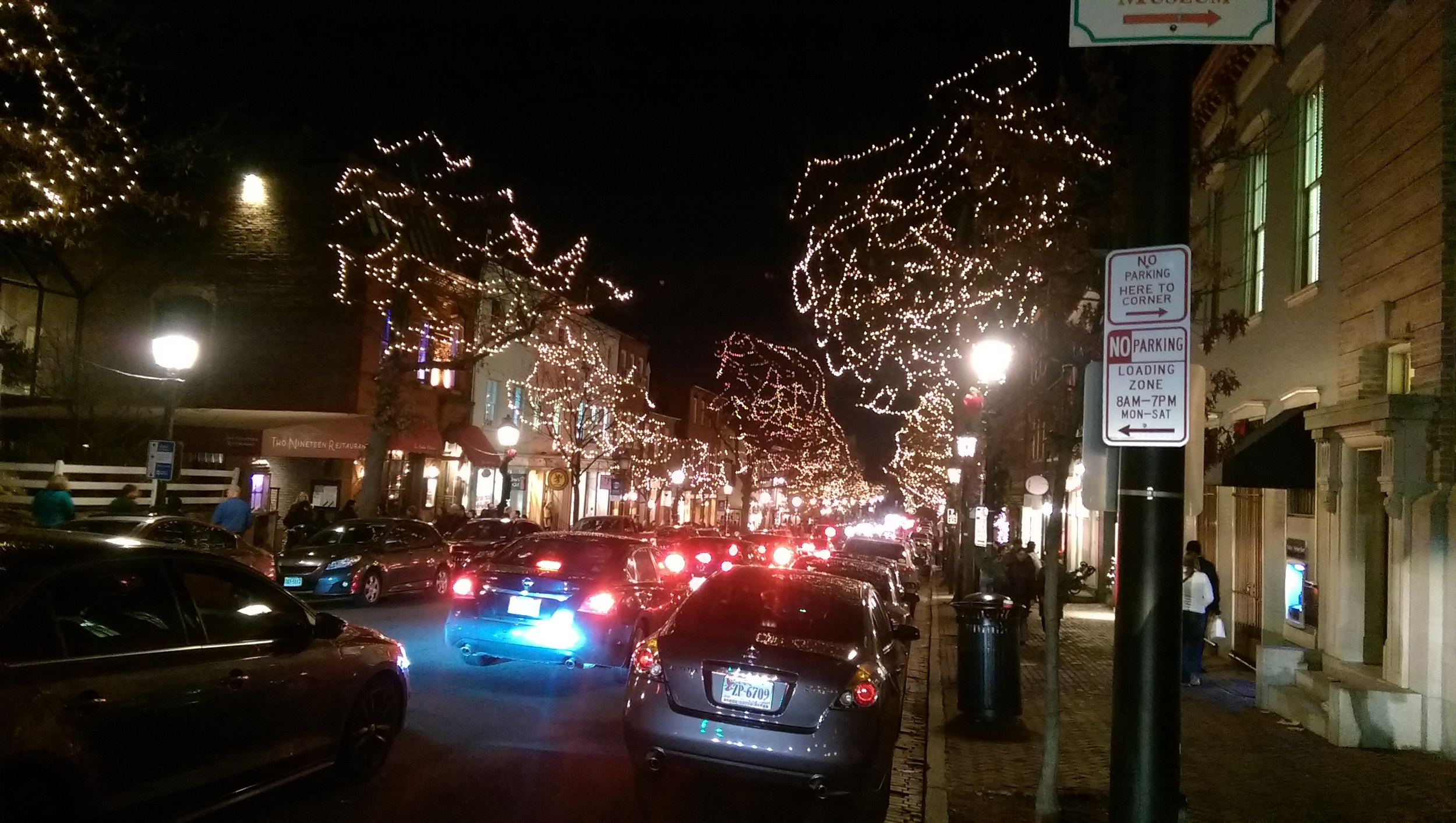 The busy streets of Old Town Alexandria