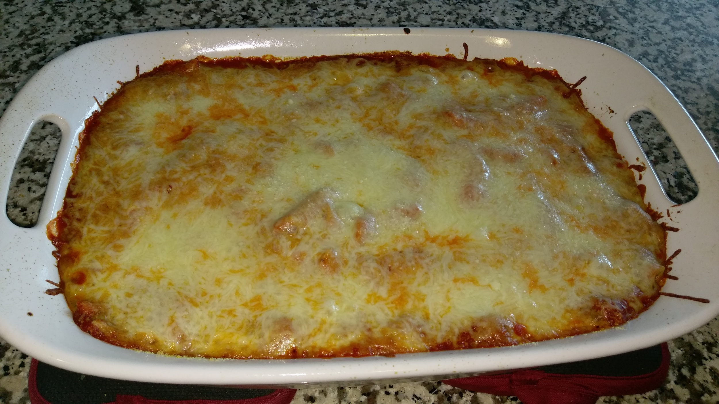 Delicious and nutritious baked rigatoni