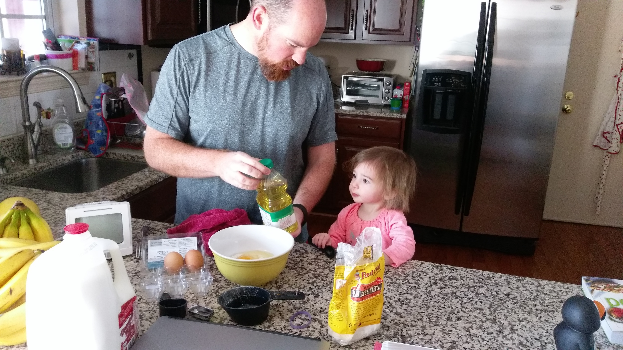 One day she will be making the pancakes for me.