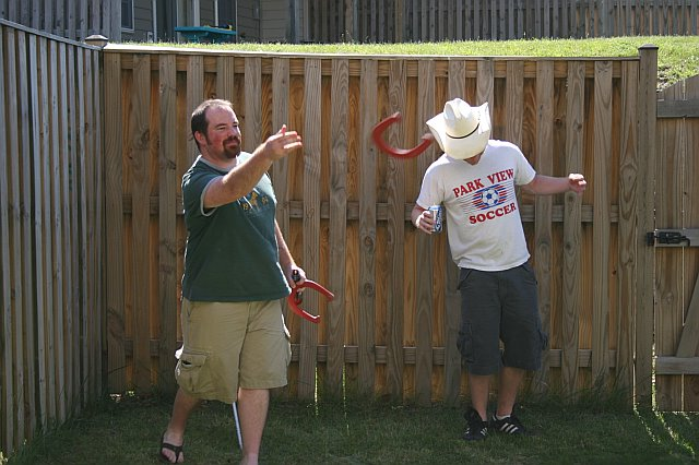That time I played horseshoes with the  AmBADASSador  himself, Coby Toland.