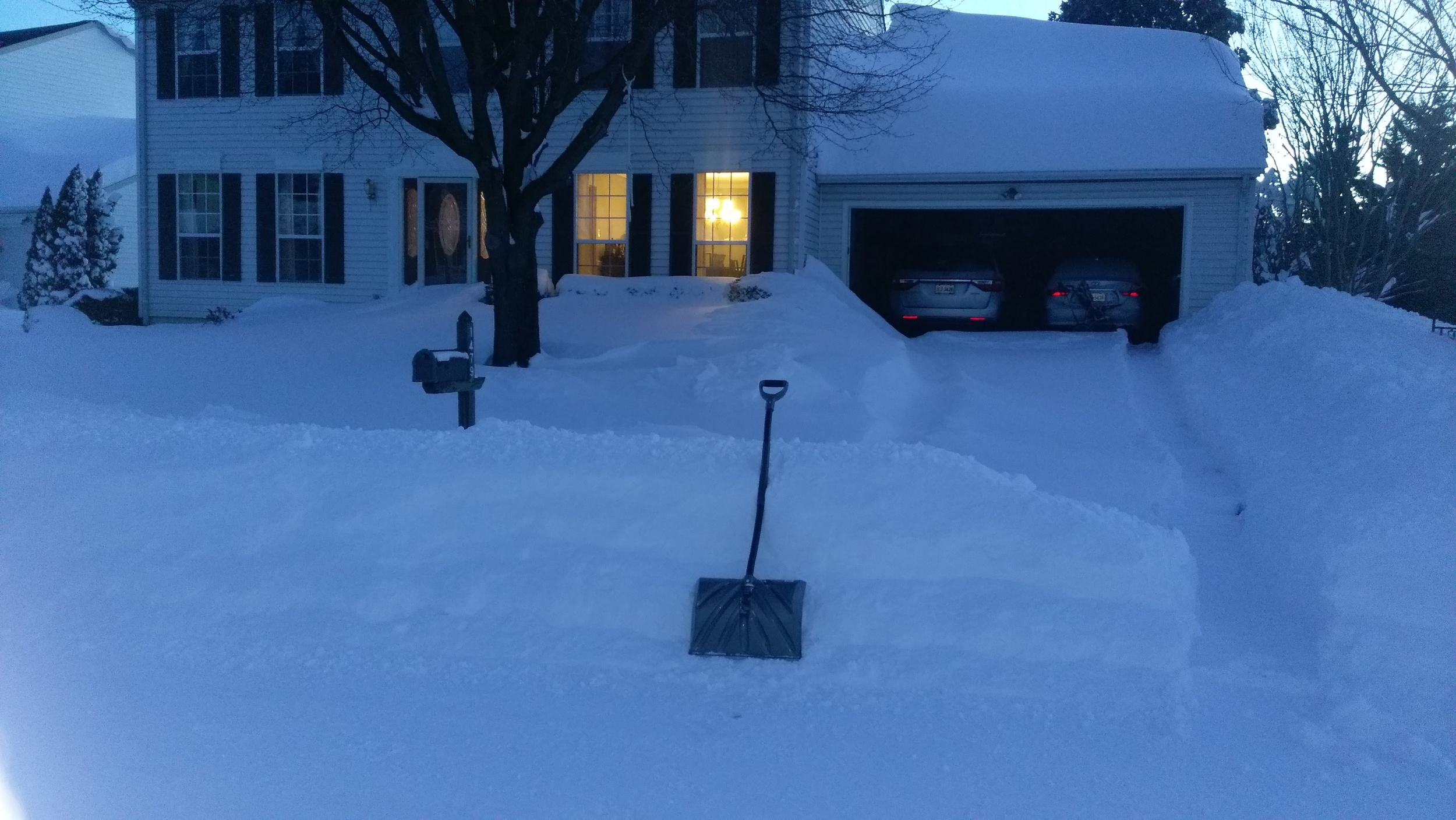 Digging out.