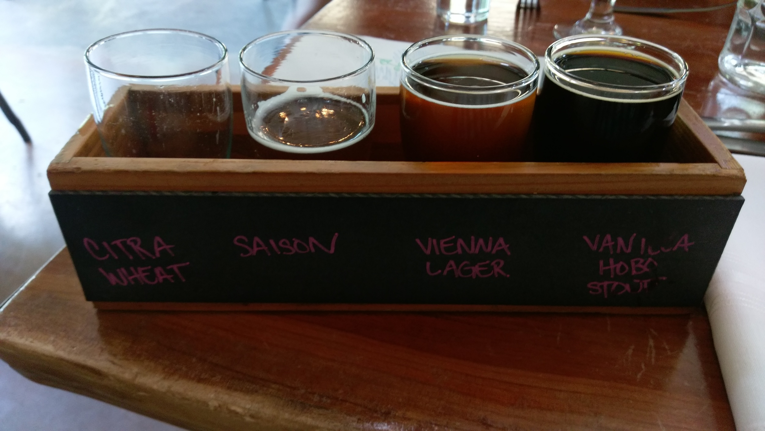 A nice beer selection provides a little something for everyone.