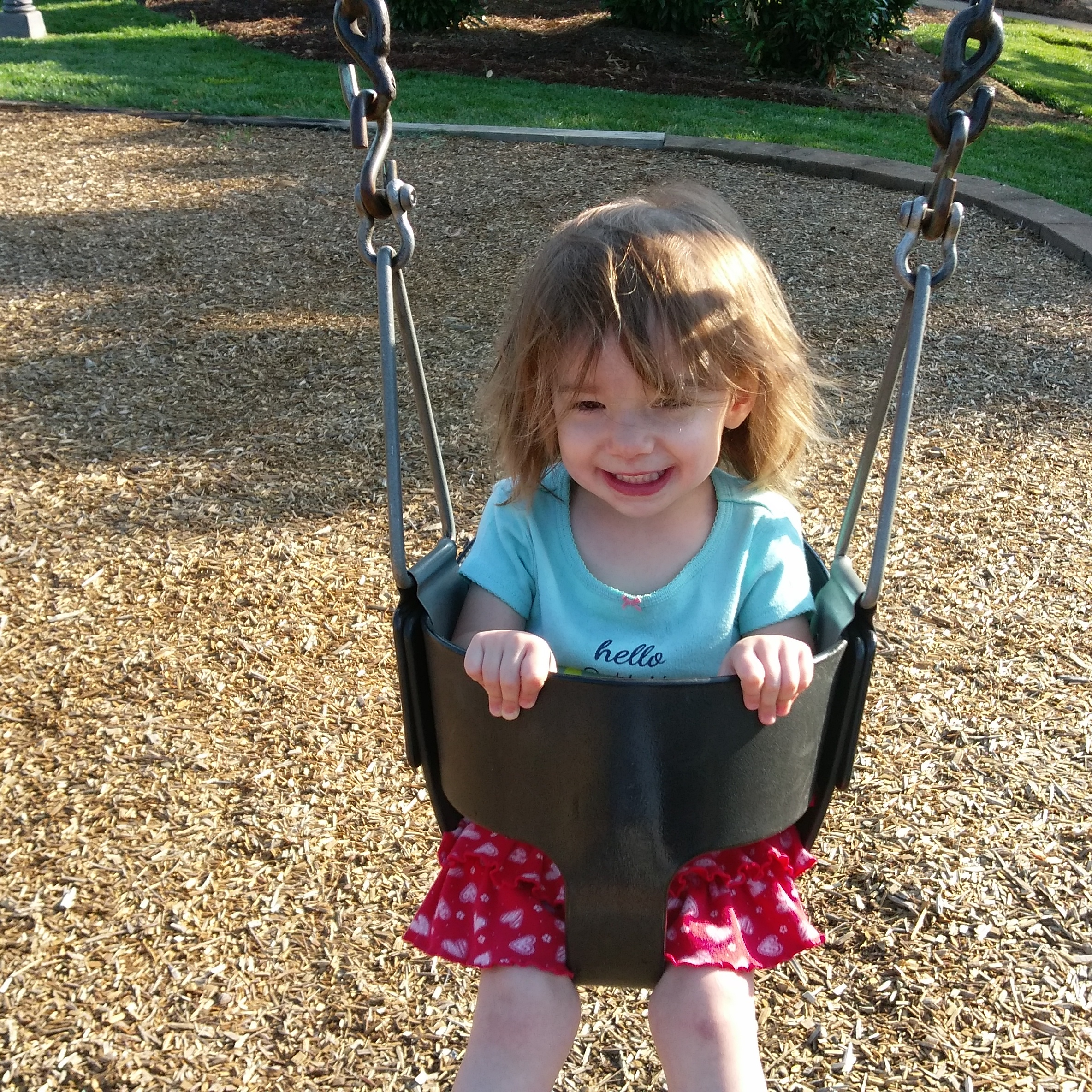 Cece getting in some early morning swinging on Friday.