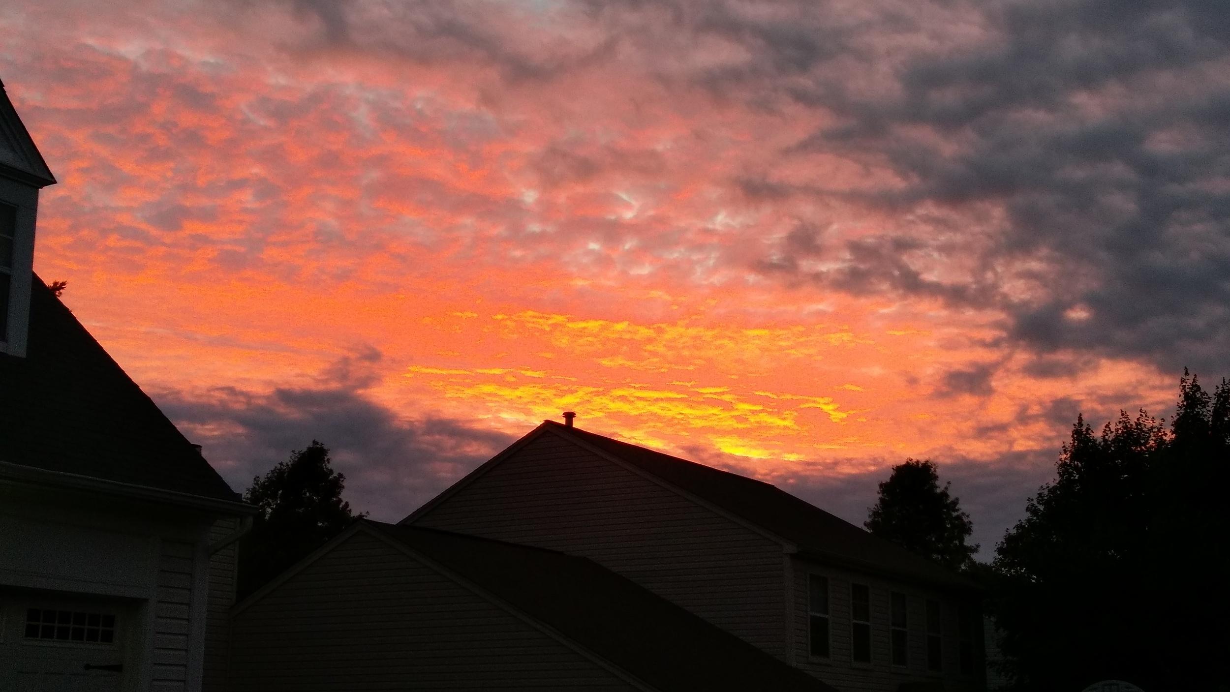 Random morning photo. It was a pretty sunrise.