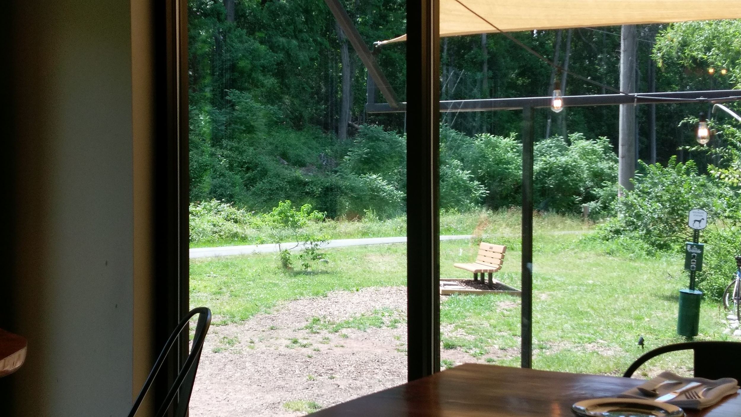 View of the W&OD trail from the tasting room