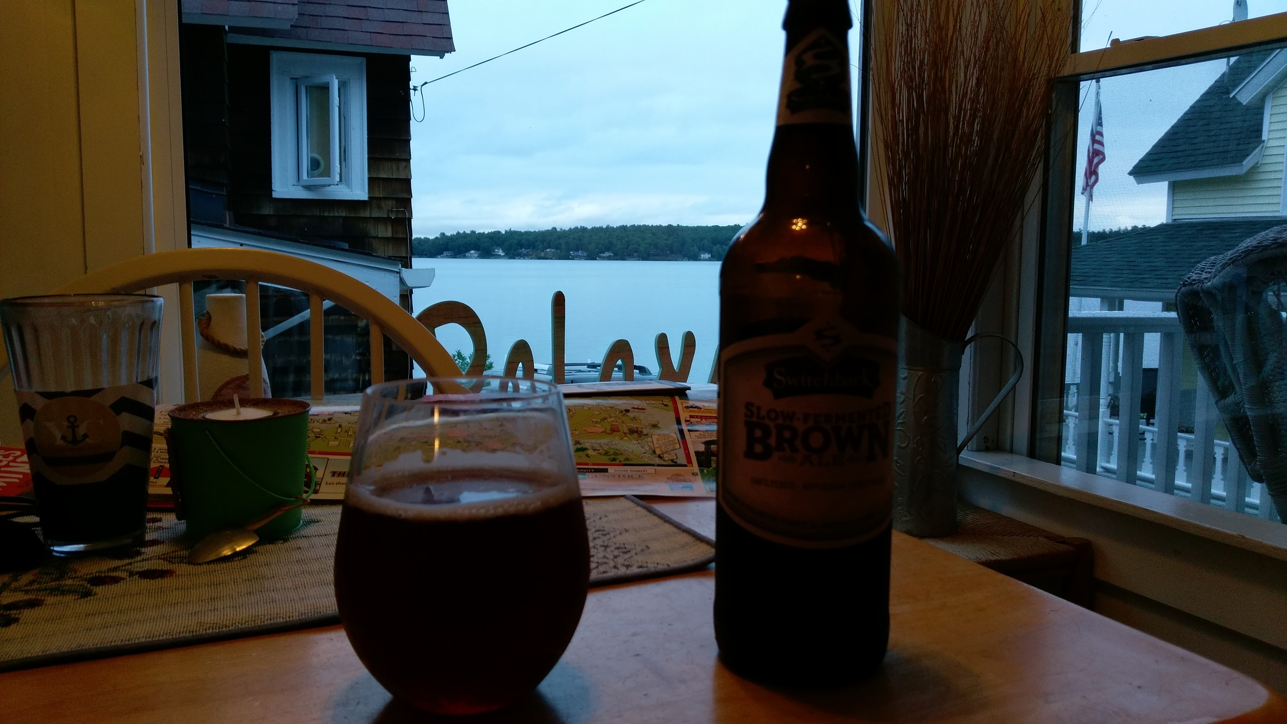Mmmm. Beer from the lake house.