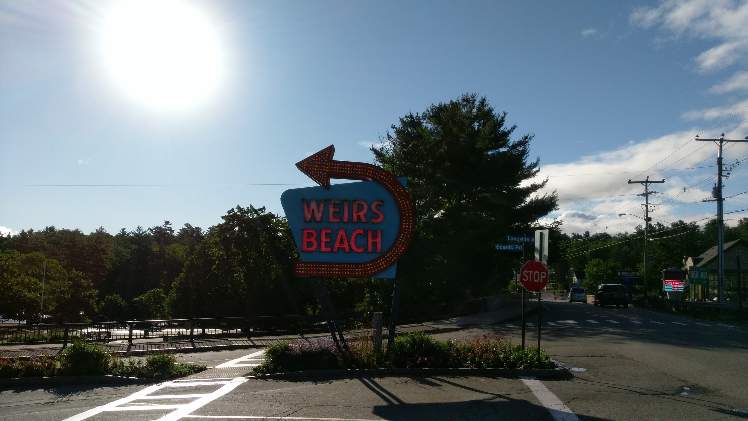 The famous Weirs Beach sign