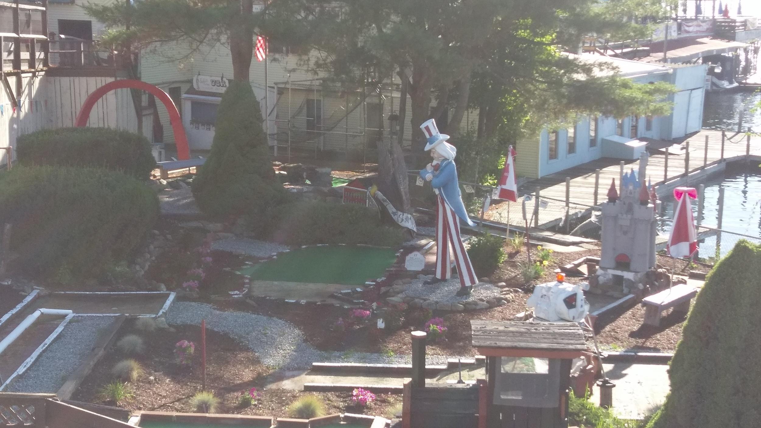 Abandoned mini-golf