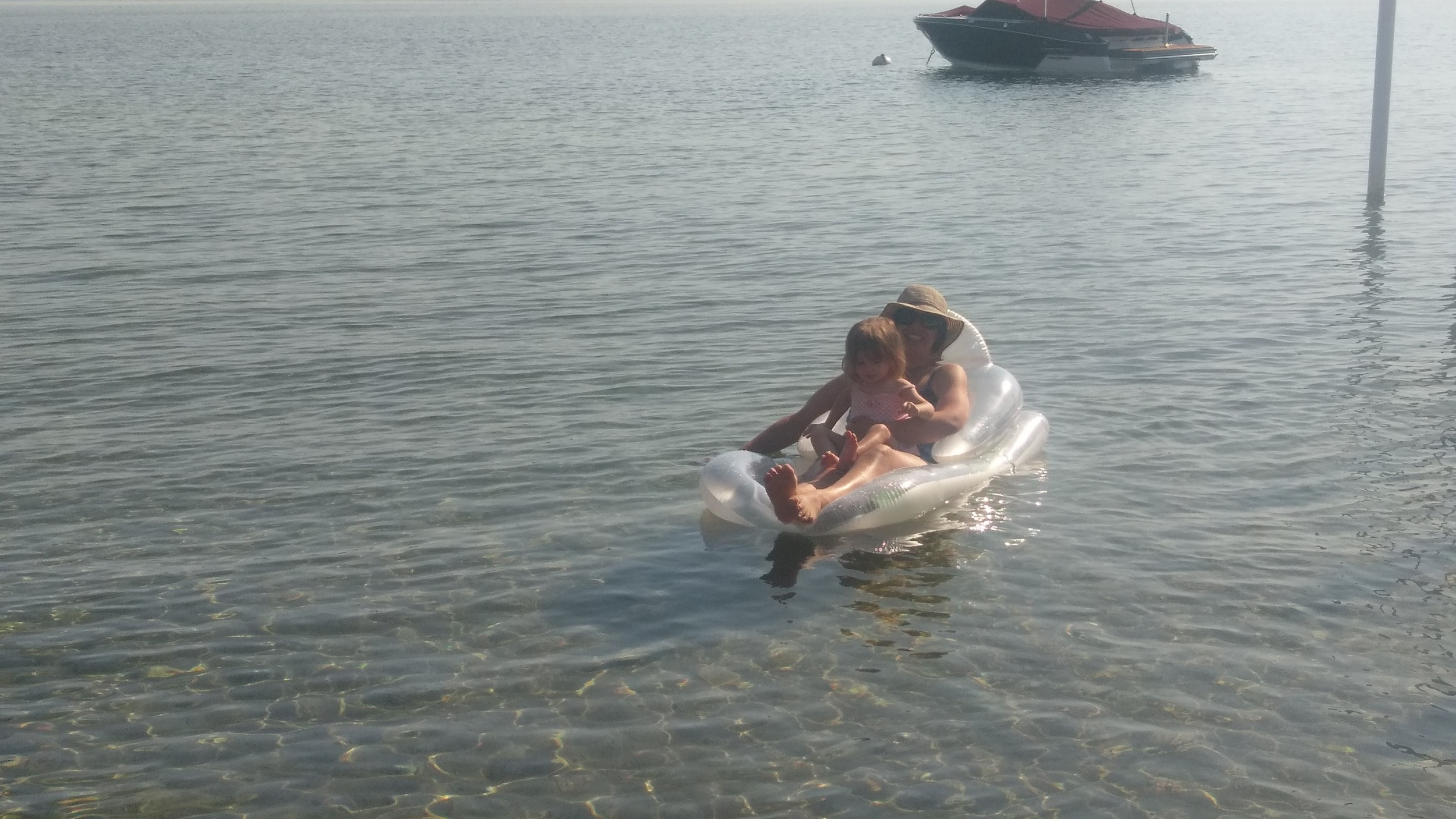 Just floating in the lake