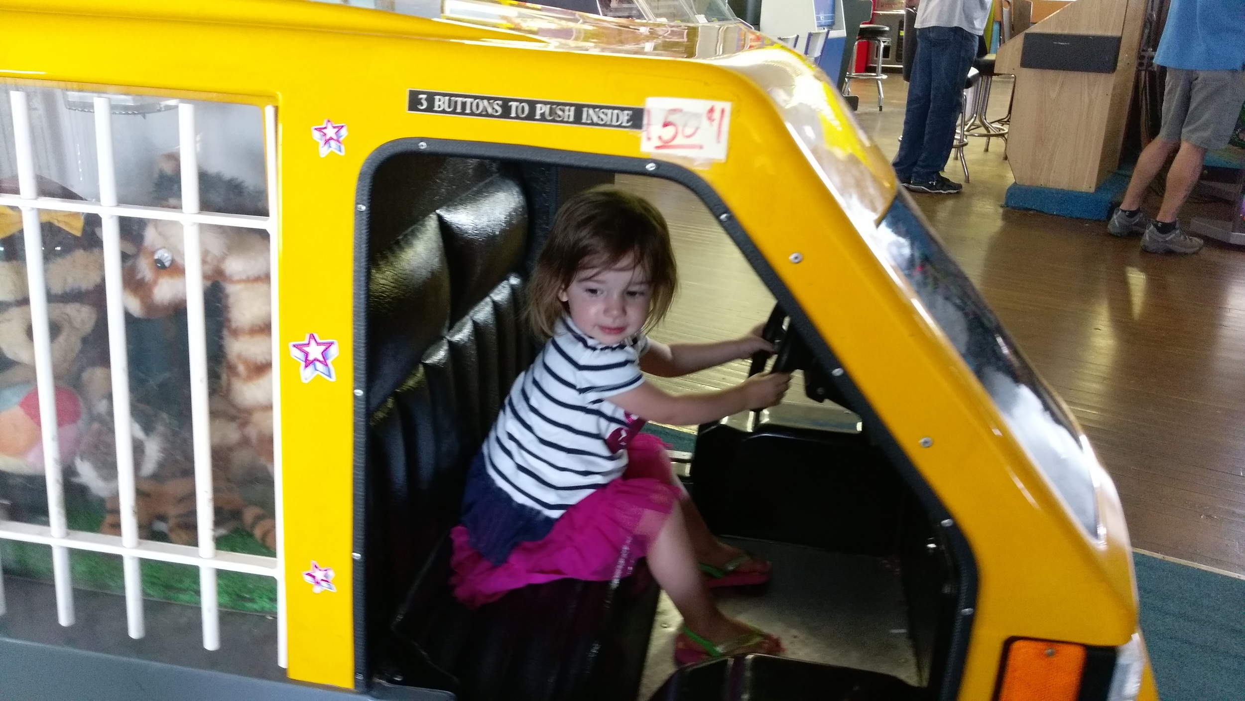 Creepy arcade ride