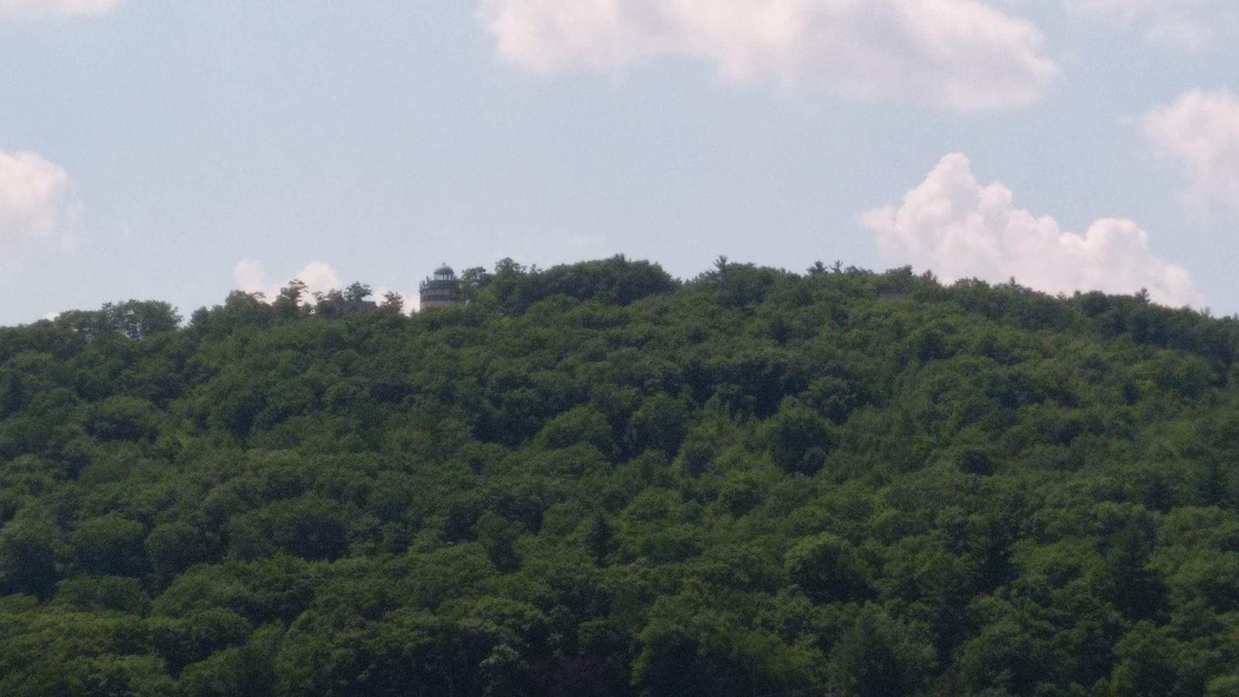 Hills along the lake