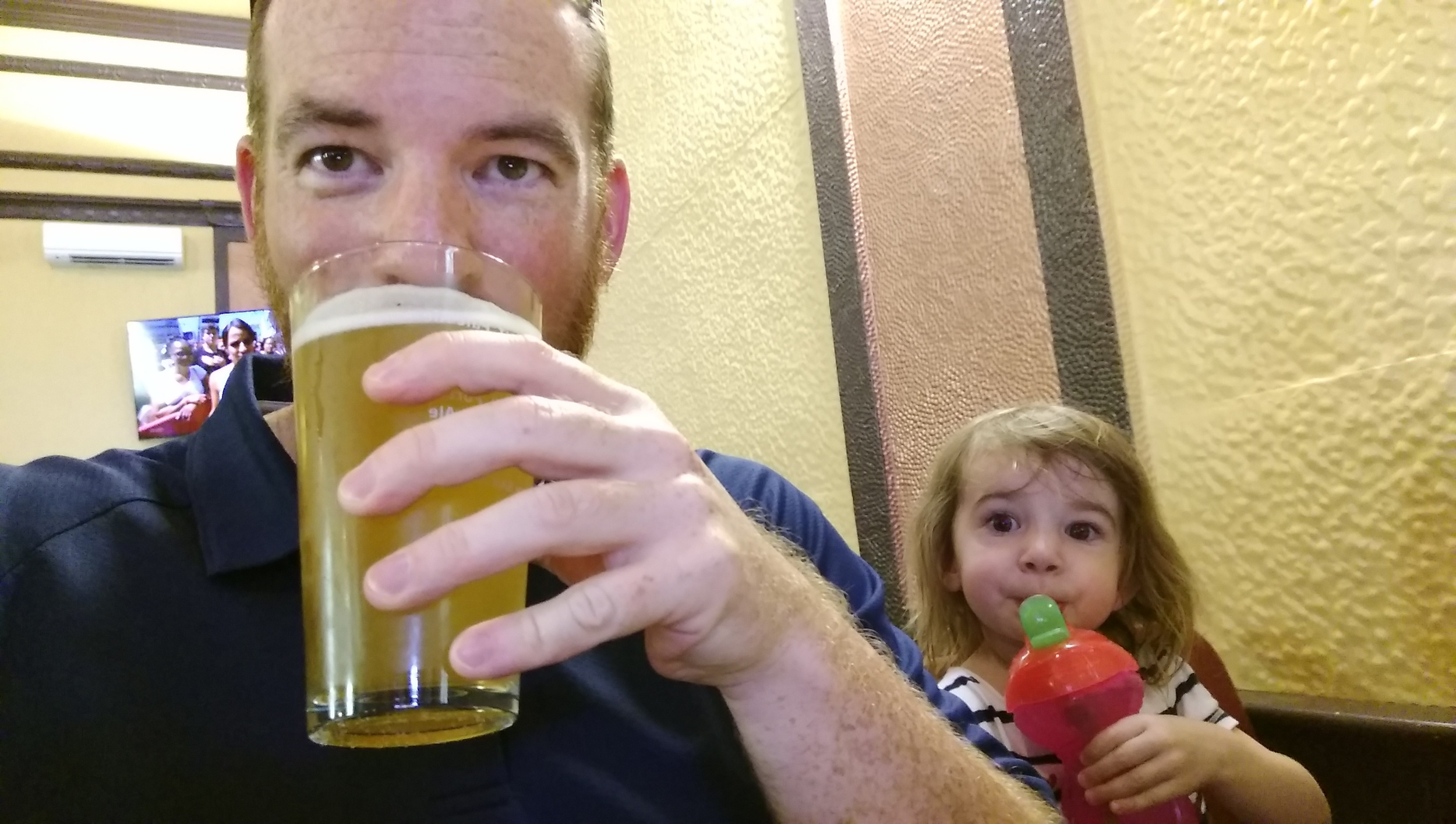 Everyone enjoys a drink at the Holy Grail