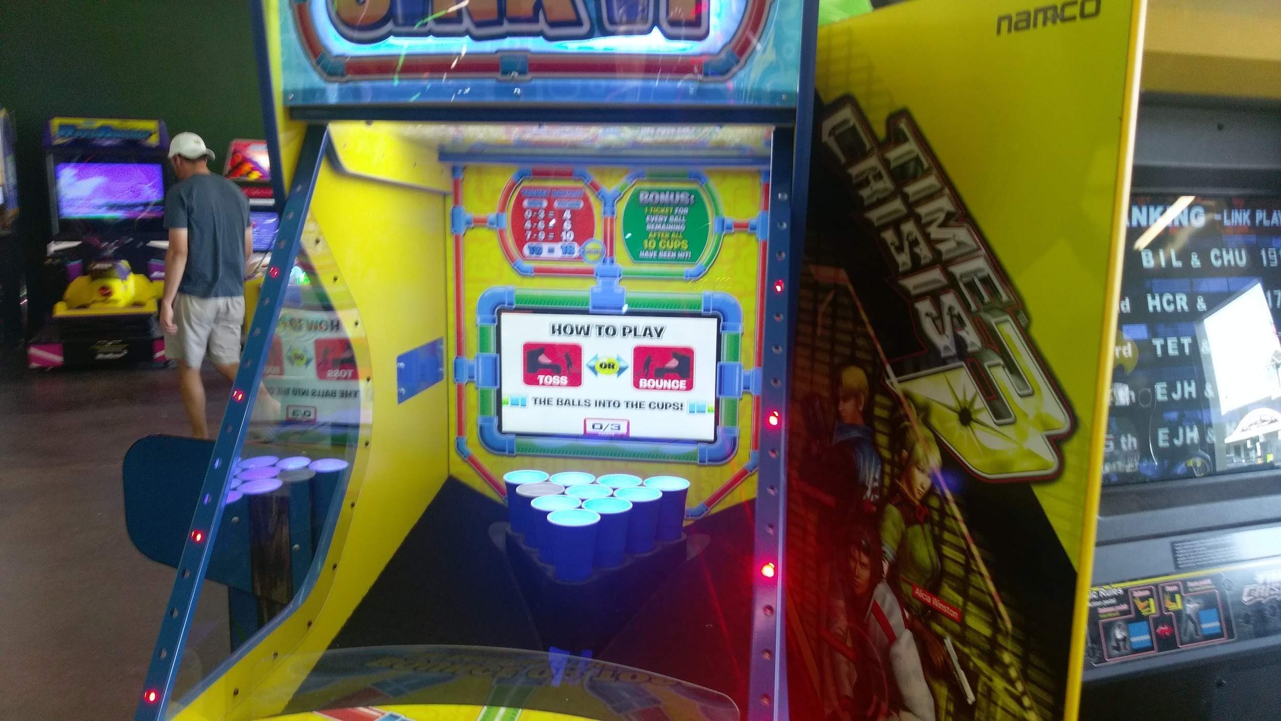 Beerpong the arcade game