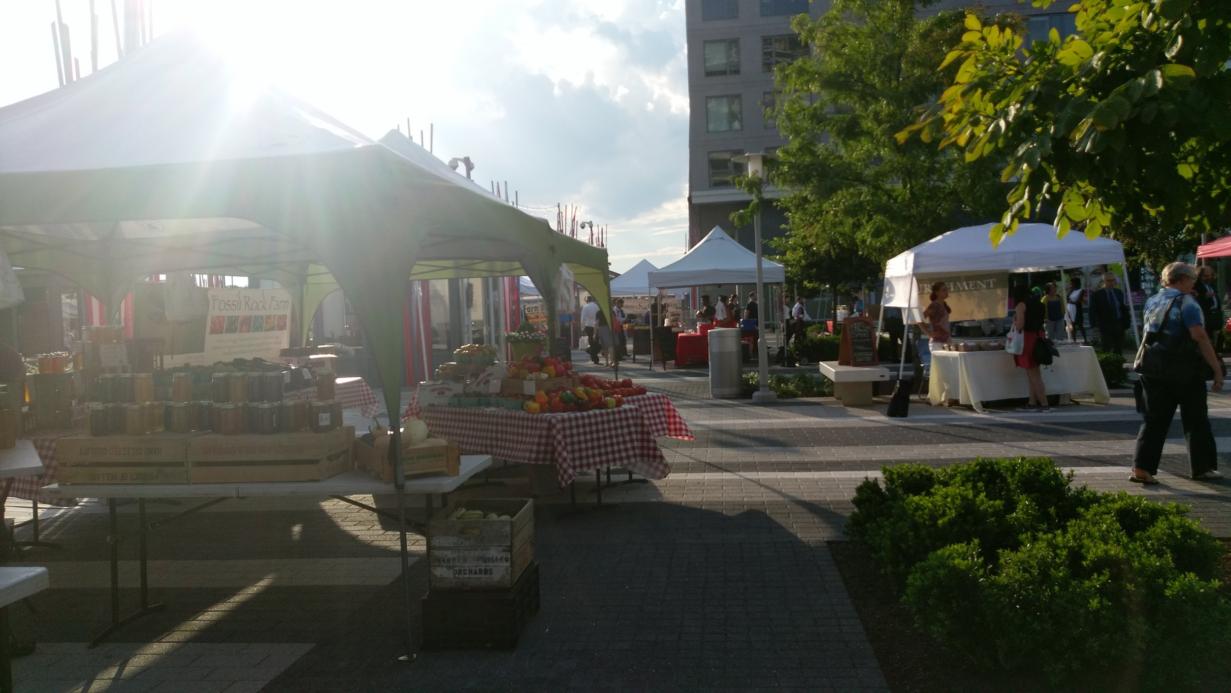 The metro stop in Reston has a farmer's market every Wednesday
