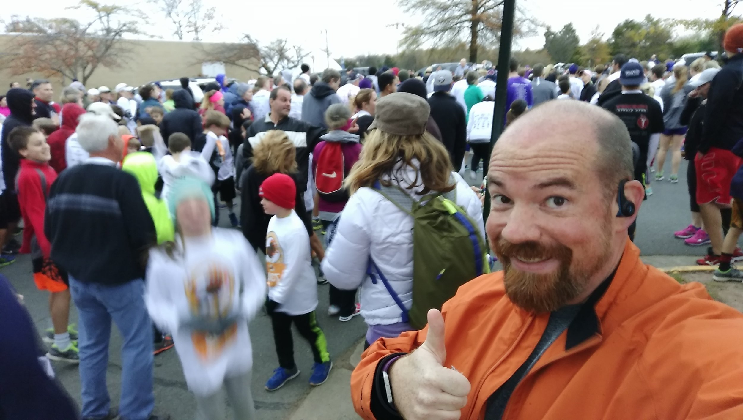 Crowds gather for the Turkey Trot