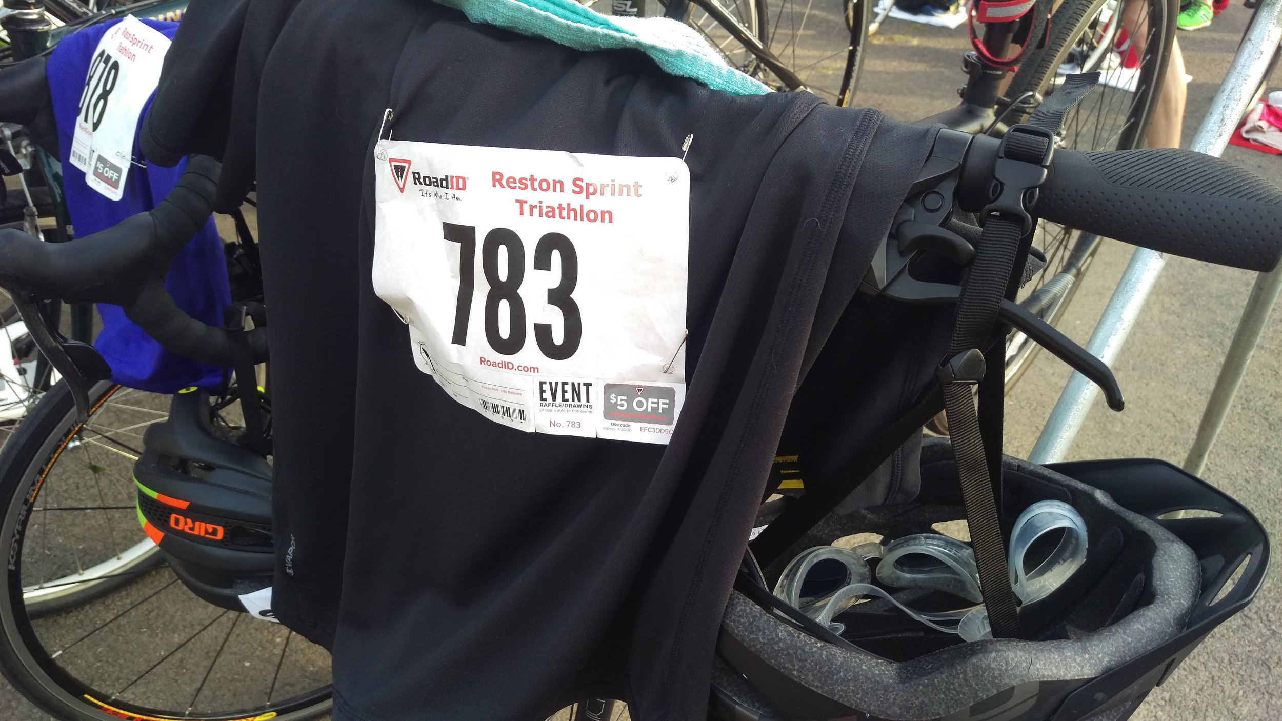Number is ready for the bike transition