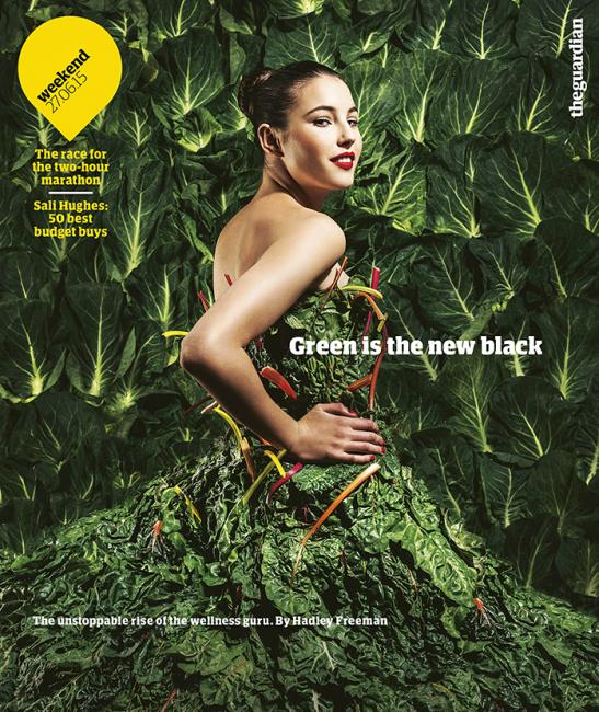 The Guardian Weekend: Dress and Background Constructed by Andie Redman