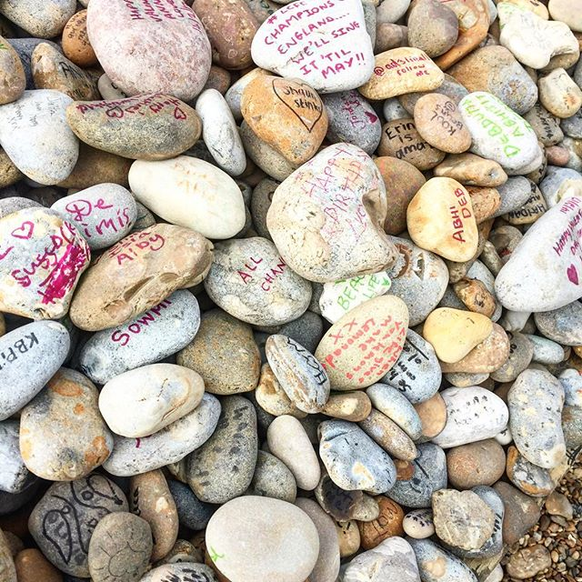 Pebble graff #pebblebeach #suffolk #spring #love