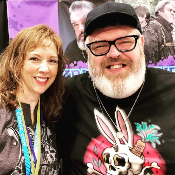 Me with Kristian Nairn