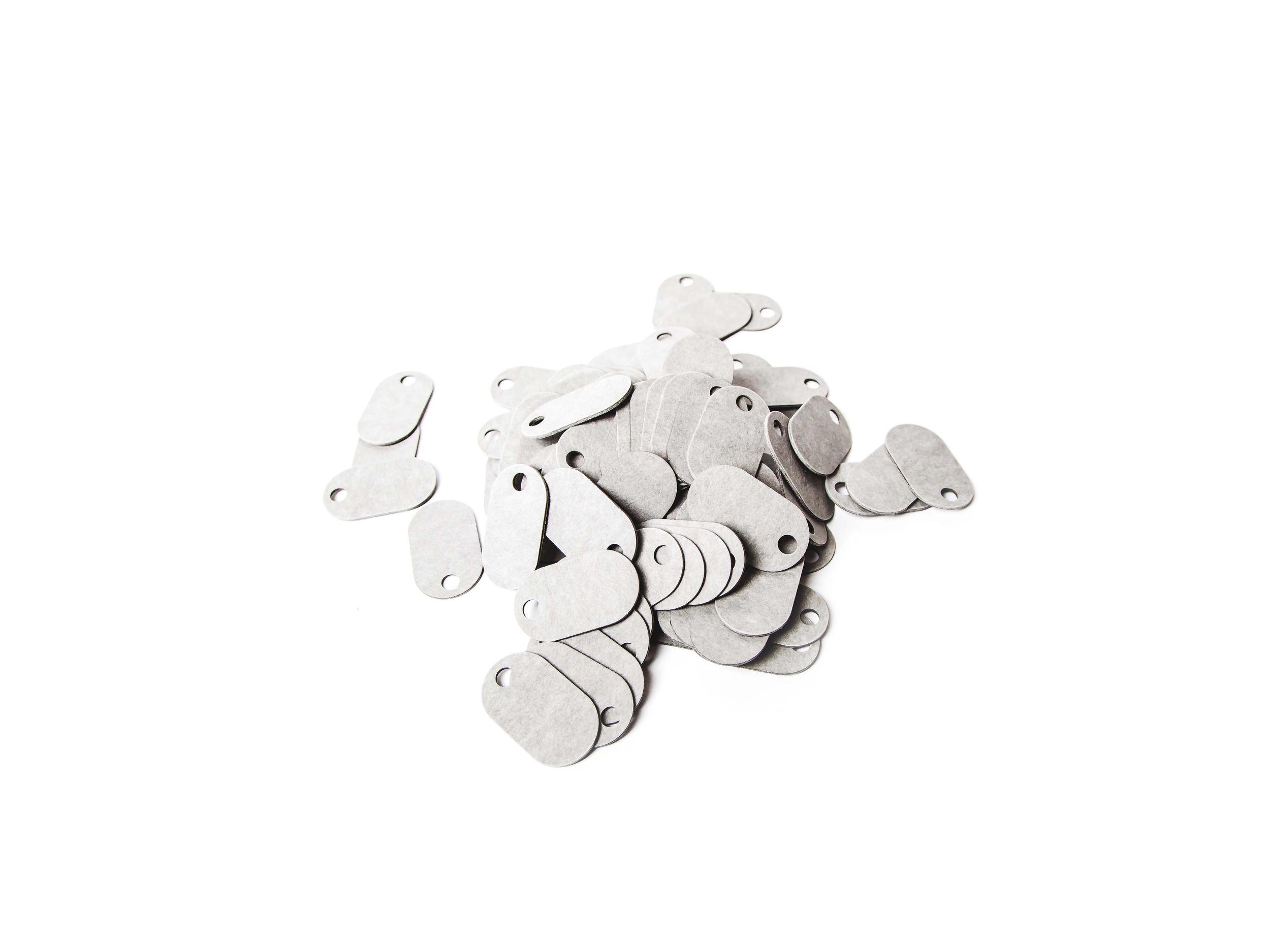Fiber Tags (Grey) Sold in packs of 100- 100,000