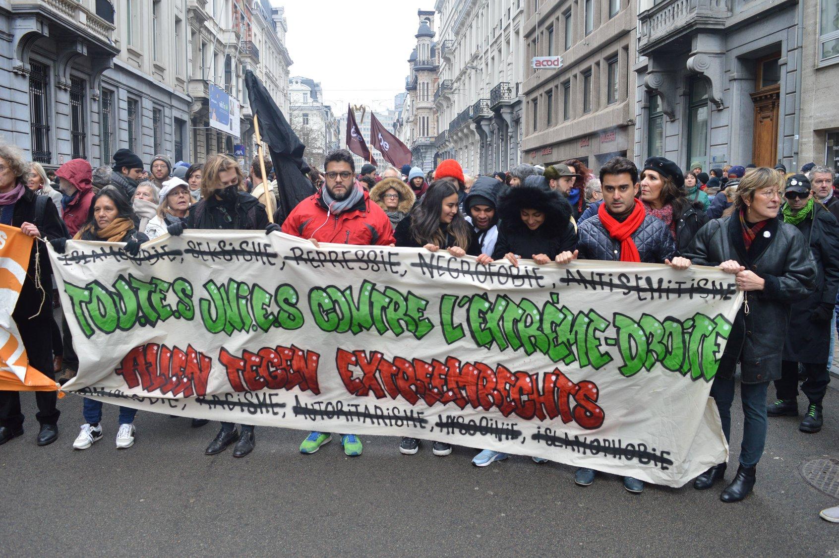 - Le fascisme, le racisme et la politique de misère n'ont pas de place en #Belgique 🇧🇪