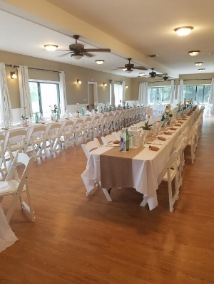 Recent wedding reception at the Clubhouse.