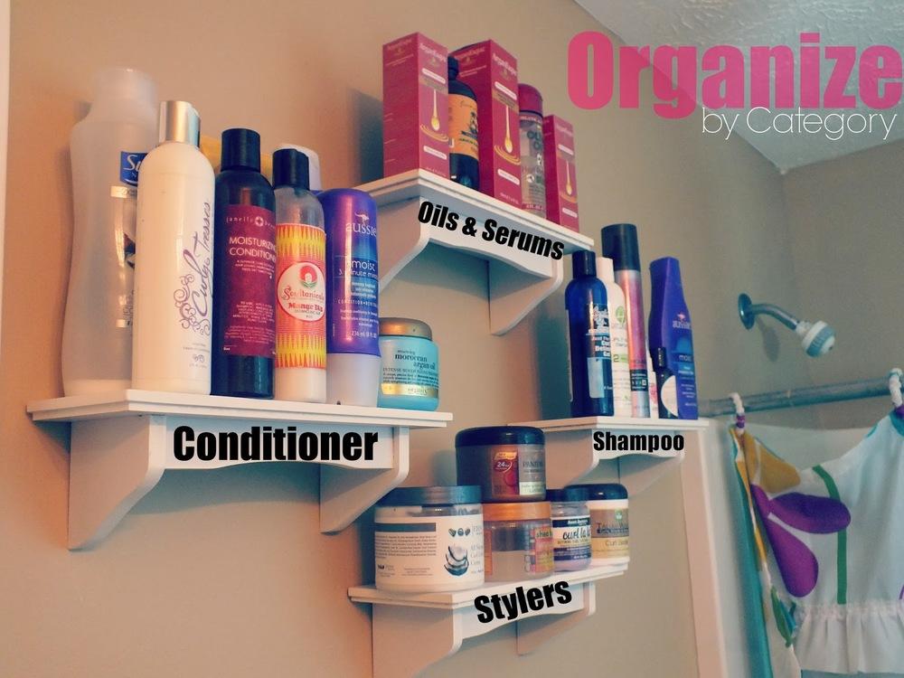 diy hair product storage