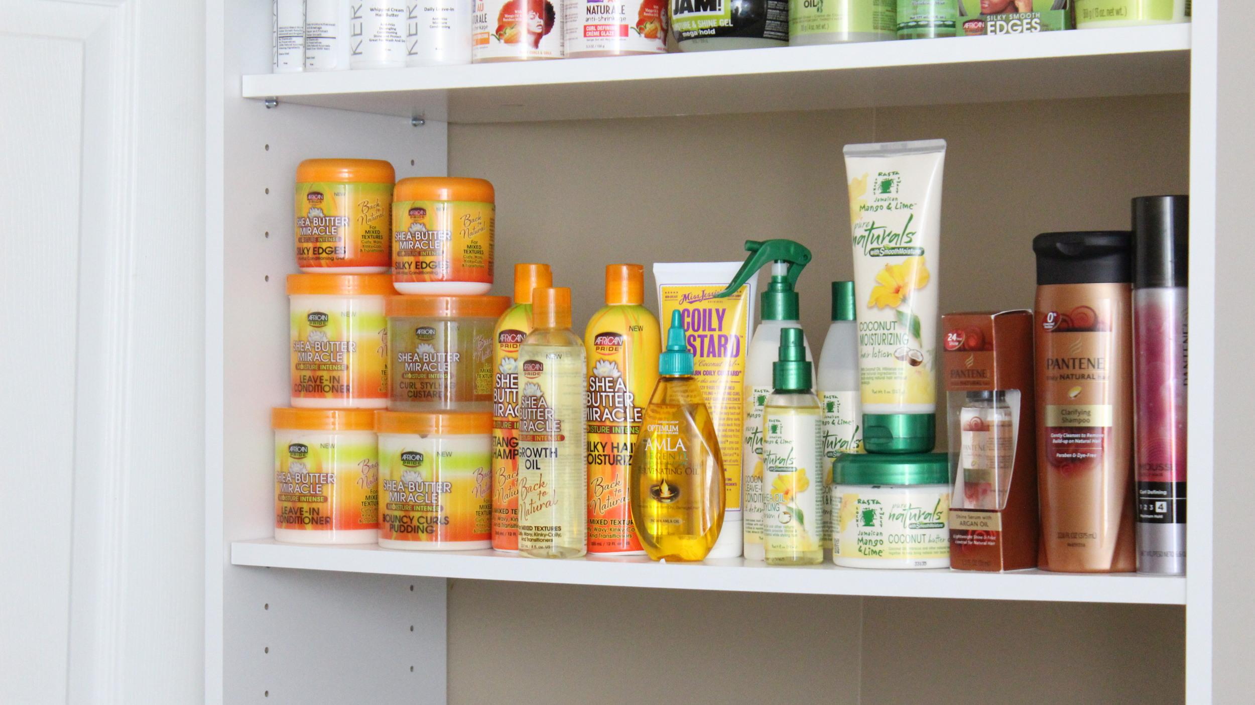 diy hair products organizer