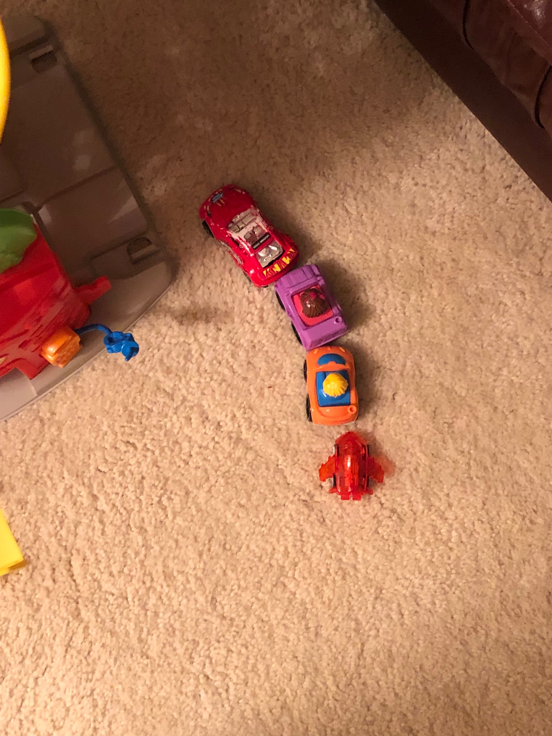 Zoe's cars is lined up for gas