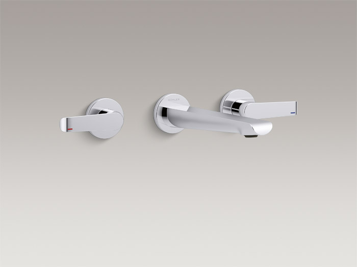 Wall-mount two-handle bathroom sink faucet trim    K-97359T-4