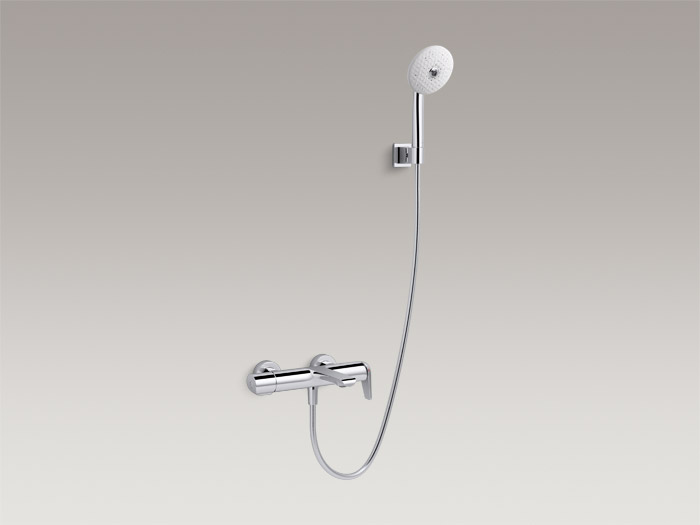 Exposed single-handle bath/shower faucet with handshower, includes all components    K-97369T-9