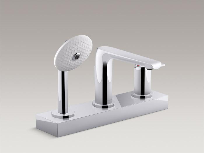 Deck-mount bath faucet trim with handshower    K97360T-4
