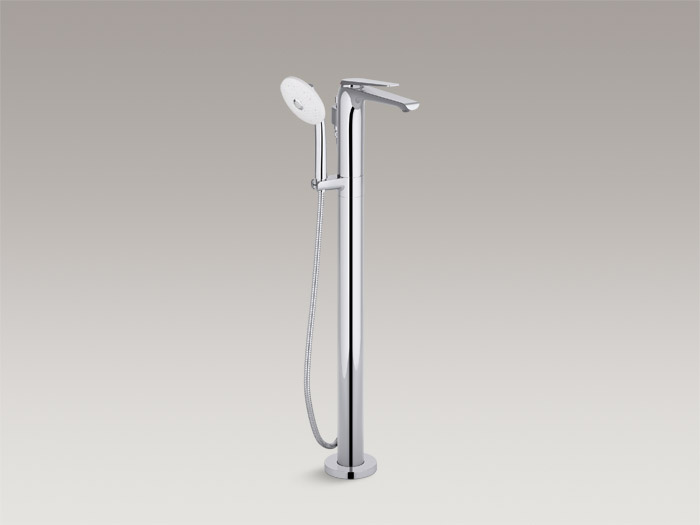 Floor-mount bath faucet with handshower, includes all components    K-97367T-4