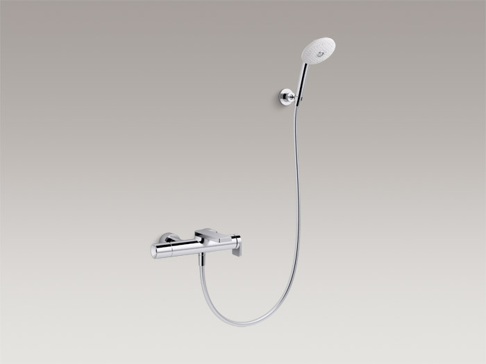 Exposed single-handle bath/shower faucet with handshower, includes all components    K-73095T-4