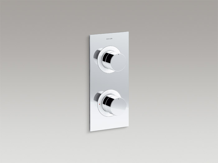 Recessed thermostatic 3-way trim    K-99866T-9-CP    Recessed thermostatic 3-way valve set    K-99870T-9-CP