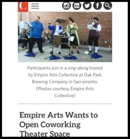 Empire Arts Collective in Comstock's magazine