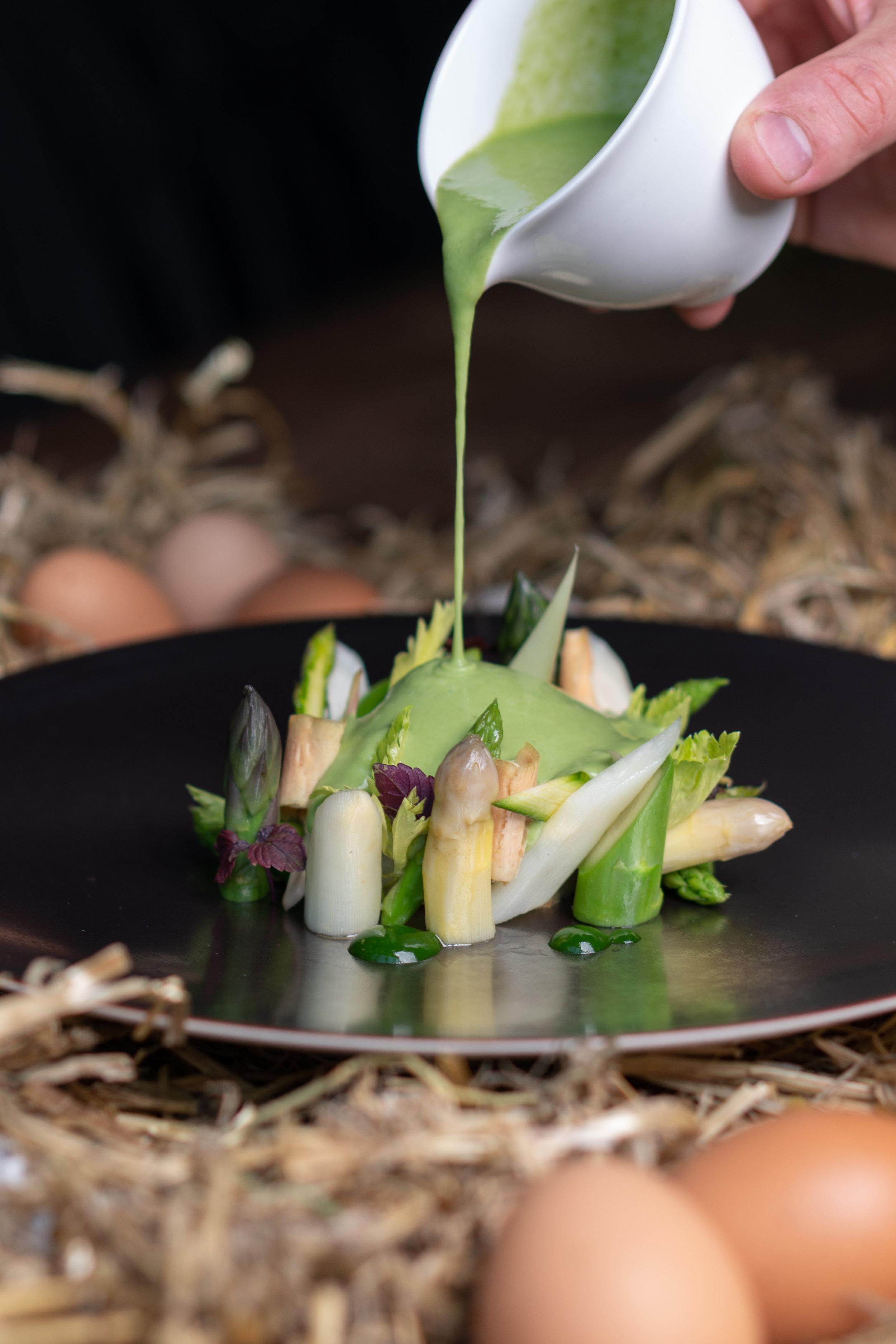 Food gourmet gastronomique sauce légumes