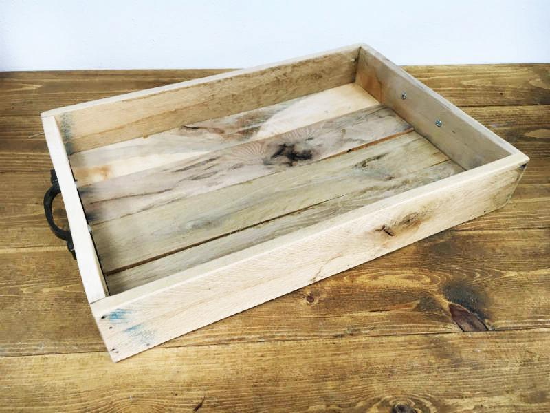 Reclaimed wood tray