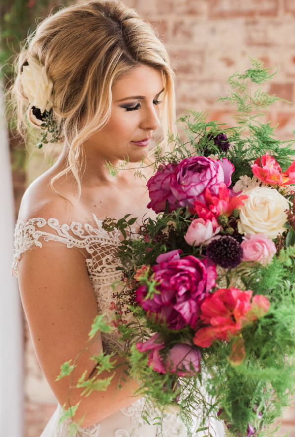 Styled Photoshoot Berry Toned Bouquet