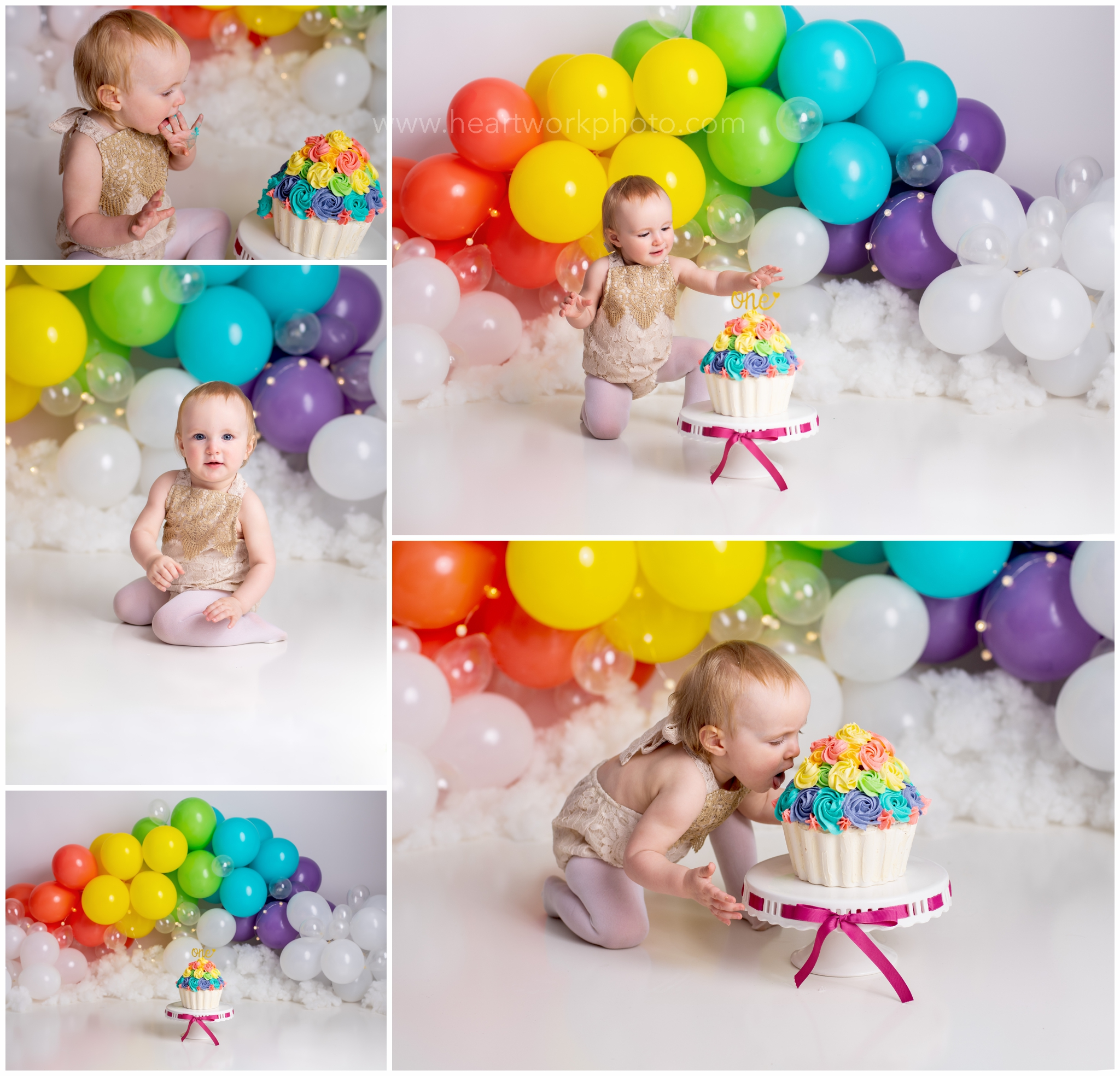 Balloon Garland Cake Smash