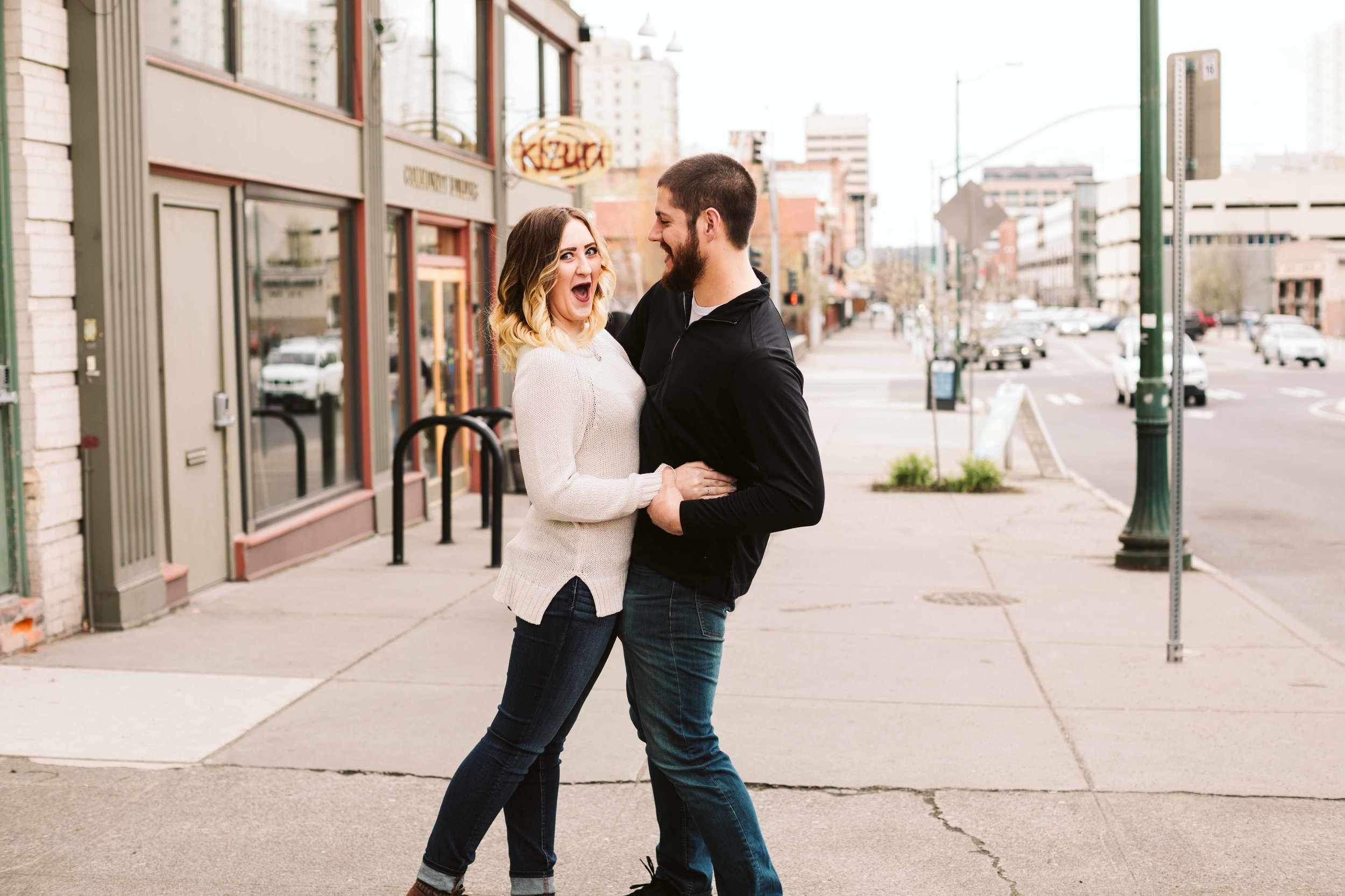 Downtown Spokane Engagement Photos