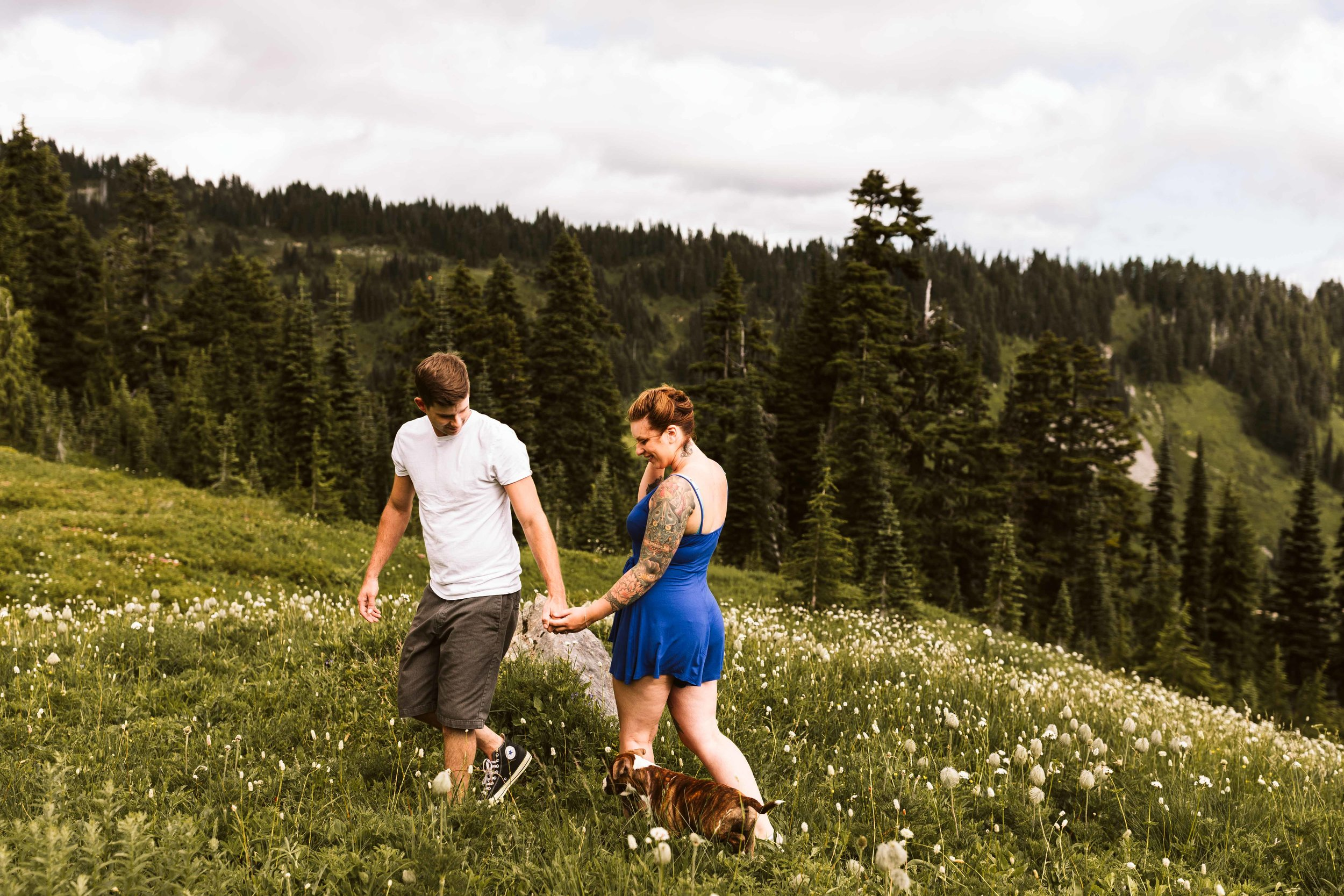 Paradise, Mt. Rainier Engagement Photos