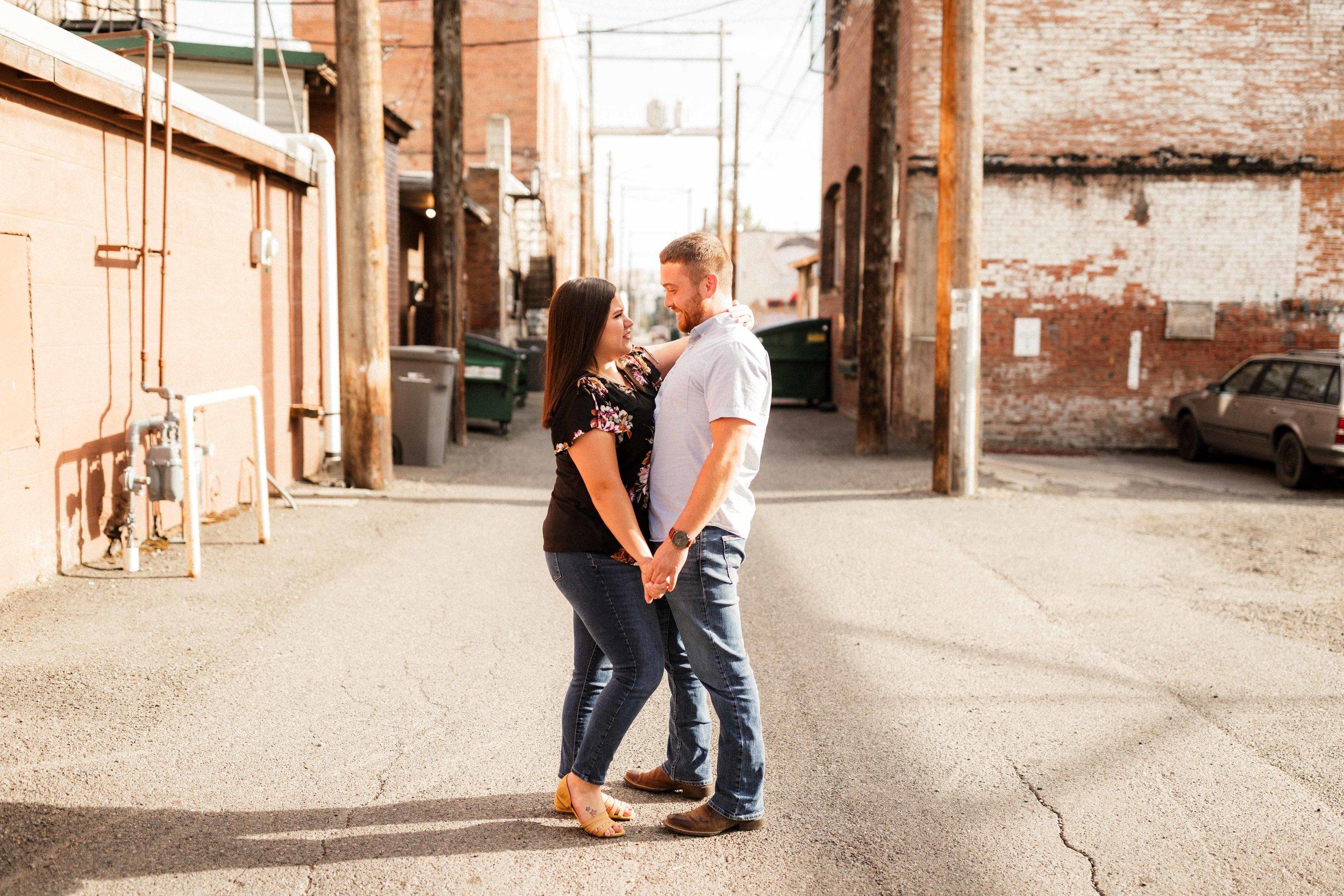 Downtown Ellensburg Engagement Photos