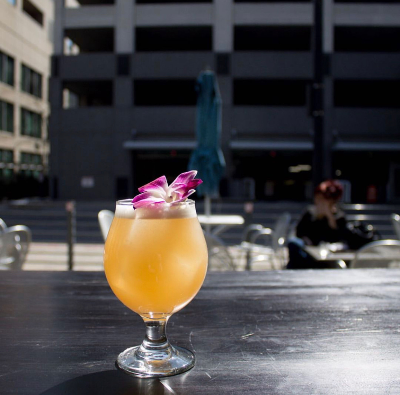 Lei Low: Gin, Lime, Oleo Saccaraum Syrup, Grapefruit and Lei Effect beer by Proper Brewery