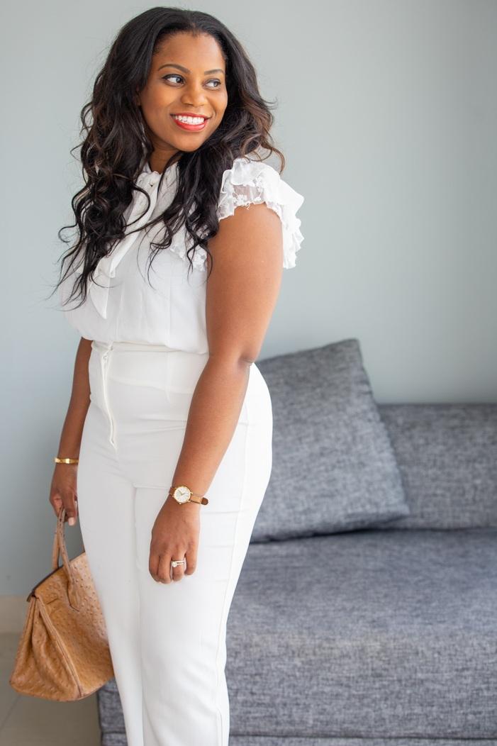 Vivian+Olodun+in+white+trousers+with+Hermes+Birkin+Bag