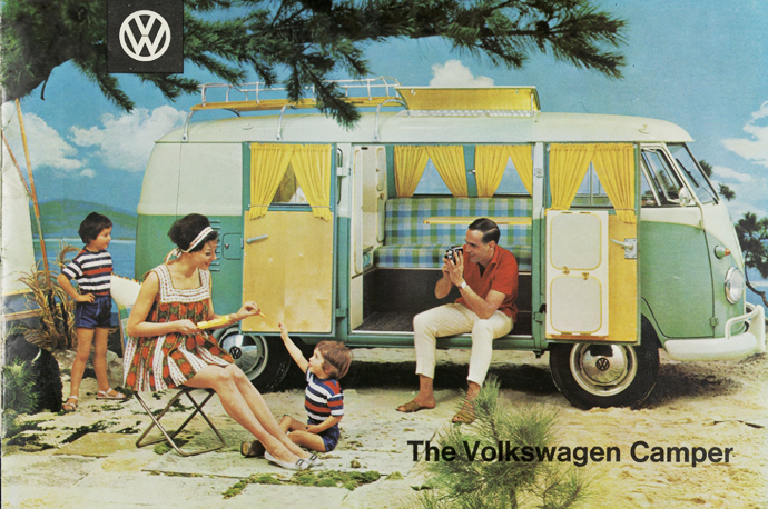 Ad from the 60's of the VW Camper.